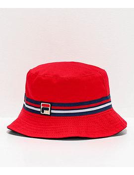Fila Reversible Red Bucket Hat by Fila