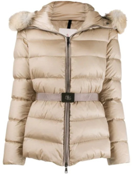 Fur Trim Hood Padded Jacket by Moncler