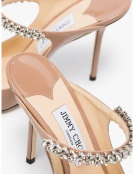 Nude Bing 100 Leather Mules by Jimmy Choo