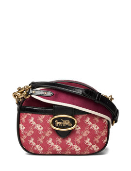 Canvas Mixed Leather Kat Crossbody by Coach