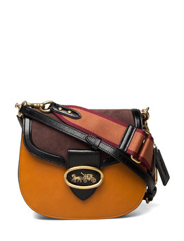 Colorblock Mixed Leather Kat Saddle Bag 20 by Coach