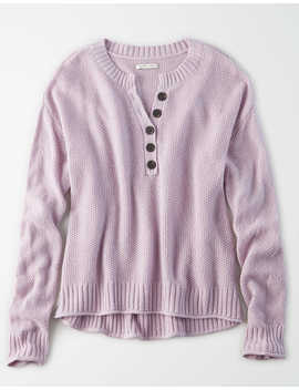 Ae Slouchy Henley Sweater by American Eagle Outfitters
