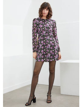 Tailored Rose Print Mini Dress by & Other Stories