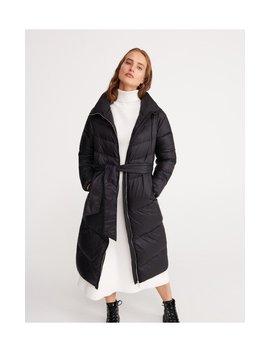 Ocieplany Płaszcz Z Paskiem by Reserved