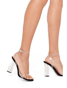 Let's Be Clear Velvet Clear Heels by Nasty Gal