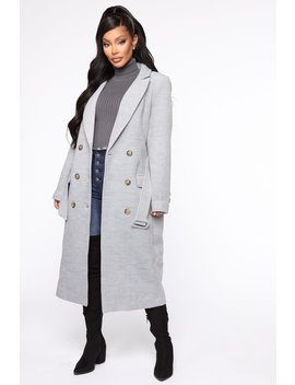 City Takeover Coat   Grey by Fashion Nova
