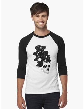 Space Brains Baseball ¾ Sleeve T Shirt by Cold Bones