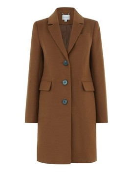 Warehouse Brown Single Breasted Coat by Next