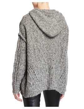 Meadow Chunky Knit Hooded Sweater by Iro