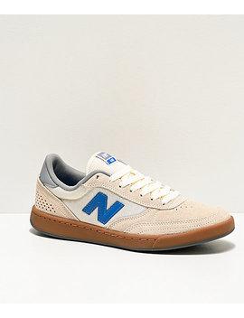 New Balance Numeric 440 Sea Salt & Blue Skate Shoes by New Balance