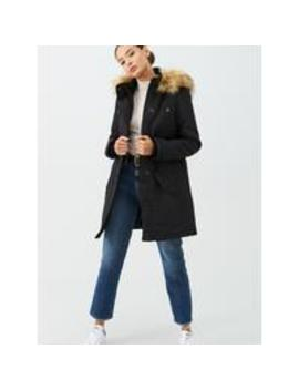 Expedition Parka With Faux Fur   Black by V By Very