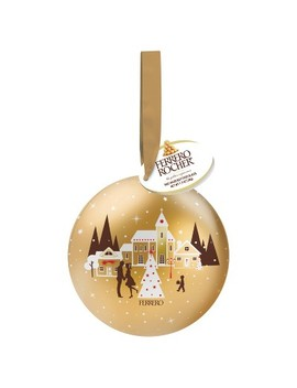 Ferrero Rocher Tin Ornament   1.32oz by Ferrero Rocher