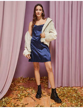 Ae Studio Silky Cowl Neck Mini Dress by American Eagle Outfitters