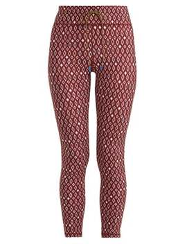 Diamond Print Cropped Leggings by The Upside