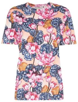Tiery Floral Print T Shirt by Mary Katrantzou