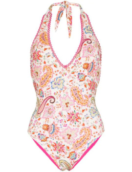 Paisley Printed Swimsuit by Etro