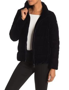 Hooded Velvet Jacket by Calvin Klein