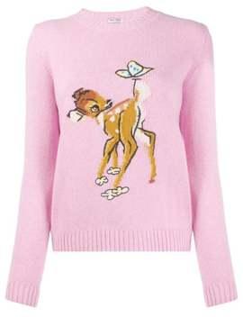 Bambi Motif Jumper by Miu Miu