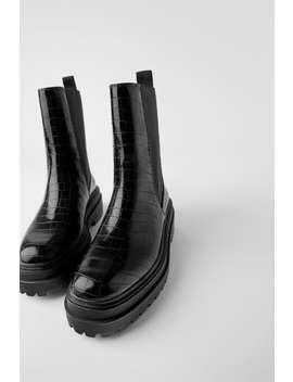 Plana Boots Med DjurmÖnster by Zara