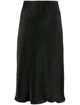 High Waisted Mid Length Skirt by Nanushka