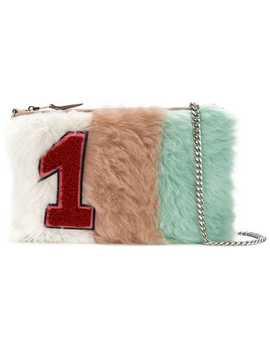 Pastel Shearling Patch Clutch Bag by Miu Miu