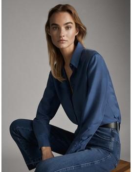 100% Silk Shirt by Massimo Dutti