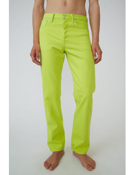Classic Fit Jeans Lime Green by Acne Studios