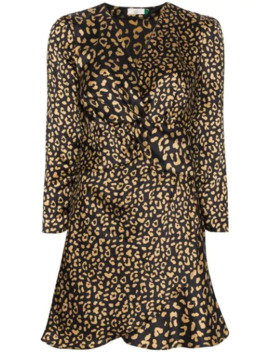 Lilly Leopard Print Silk Dress by Rixo