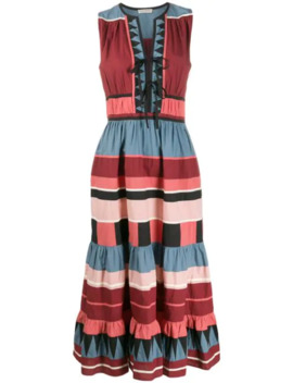 Kaiya Striped Mid Length Dress by Ulla Johnson