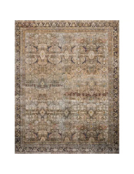 Alexander Home Isabelle Traditional Vintage Border Printed Area Rug   9' X 12'   Olive/Charcoal by Alexander Home