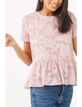 Sheer Floral Burnout Top by Forever 21