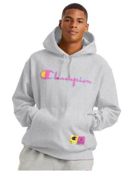 Men's Champion LifeReverse Weave Hoodie, Chenille Logo by Champion