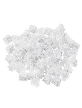 70 Pcs Pack 3 Pin Kailh Box White Switch Clicky Keyboard Switch For Keyboard Customization by Banggood