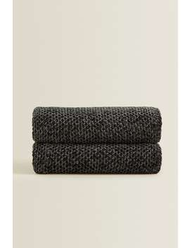 Plain Chenille Blanket by Zara