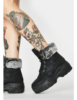 Can't Stand The Chill Ankle Boots by Dolls Kill