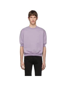 Purple Fleece Short Sleeve Sweatshirt by Random Identities