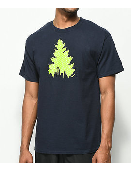 Casual Industrees Johnny Tree Football Navy T Shirt by Casual Industrees