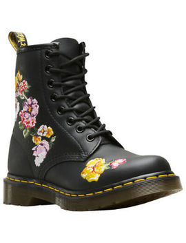 Dr.Martens 1460 Vonda Ii Leather Lace Up Combat Ankle Womens Boots by Dr.Martens