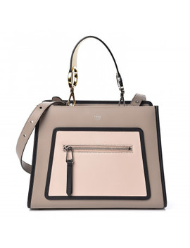 Fendi Vitello Bicolor Small Runaway Satchel Dove by Fendi