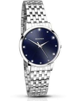 Sekonda Ladies Blue Stone Set Dial Watch 2442 Rrp £69.99 by Ebay Seller
