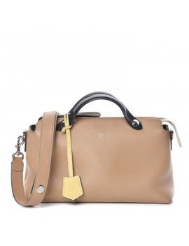 Fendi Calfskin Small By The Way Satchel Sand by Fendi