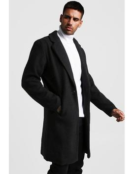 Wool Look Overcoat by Boohoo