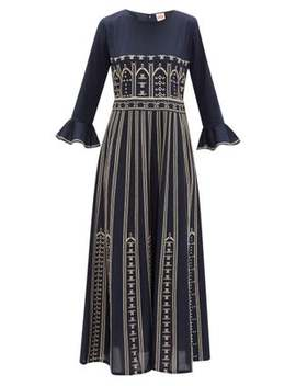 Tracey Embroidered Cotton Poplin Dress by Le Sirenuse Positano