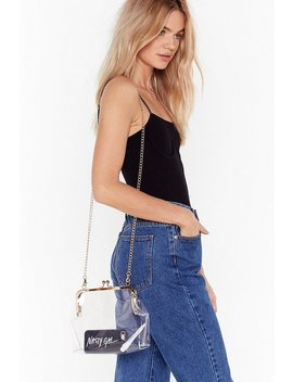 Want See It So Clear Chain Crossbody Bag by Nasty Gal