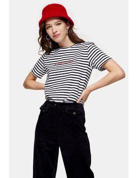 C'est La Vie Stripe T Shirt by Topshop
