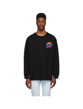 Black Unisex Rugby Long Sleeve T Shirt by Opening Ceremony