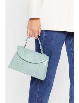 Want We Croc Your Back Faux Leather Bag by Nasty Gal