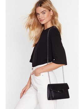 Chain Strap Envelope Fold Corssbody Bag by Nasty Gal