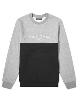 Fred Perry Authentic Block Logo Crew Sweat by Fred Perry Authentic