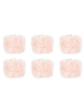 Pink Fur Ball Ornaments by Hobby Lobby